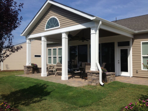 covered porch builder construction charlotte nc